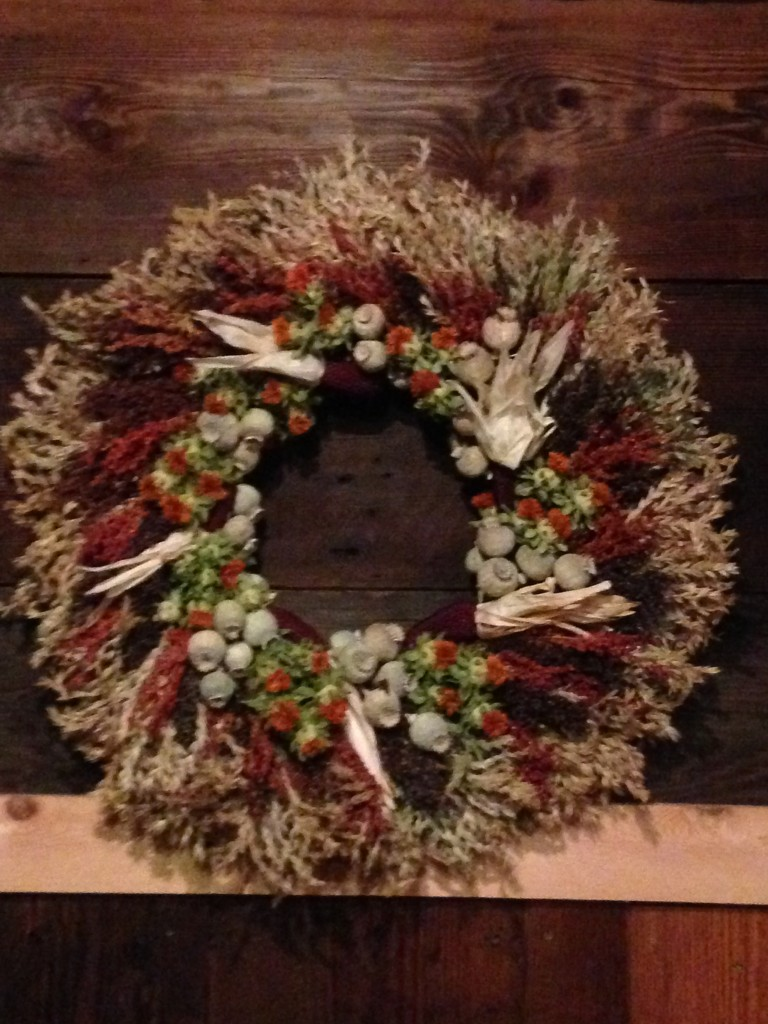 Poppy pods and Broom Corn wreath